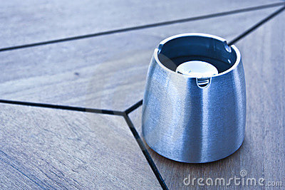Empty ashtray on the table