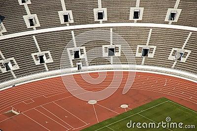Empty athletic stadium