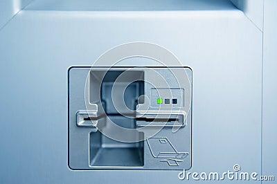 ATM cash point slot