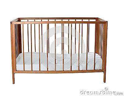 Empty baby cot