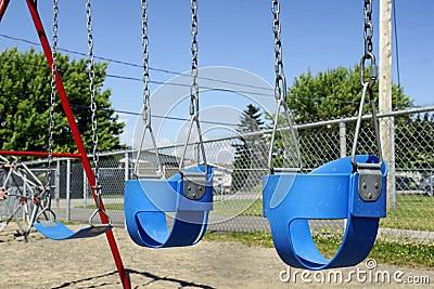 Empty baby swings