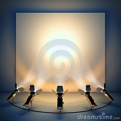 Free Empty Background With Stage Spotlight. Royalty Free Stock Photography - 31118677