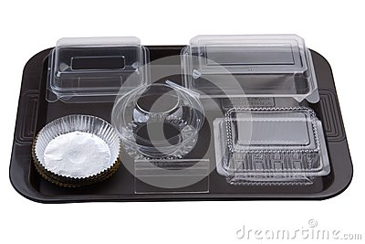 Empty bakery package