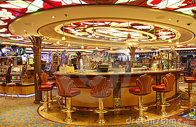 Empty bar in casino Editorial Photo