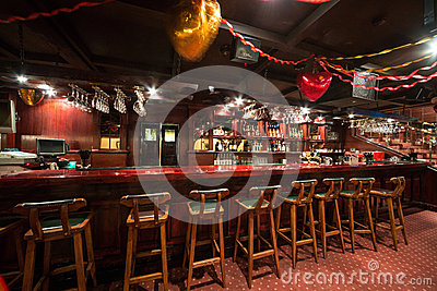 The empty bar in Karaoke - Club PHARAOH Editorial Stock Photo