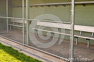 Empty Baseball Dugout