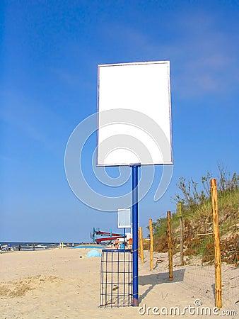 Free Empty Beach Advert Stock Images - 239664