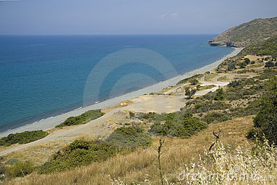Empty beach on Cyprus