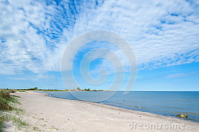 Empty beach on the island Oland, Sweden