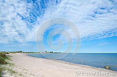 Empty beach on the island Oland, Sweden
