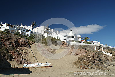 Empty beach San Jose Andalusia Spain