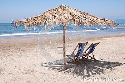 Empty beach waiting for summer