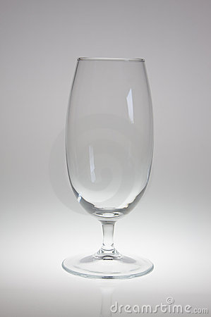 Empty beer goblet