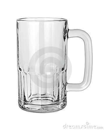 Empty Beer Mug with clipping path