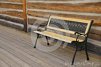 Empty Bench Log Cabin