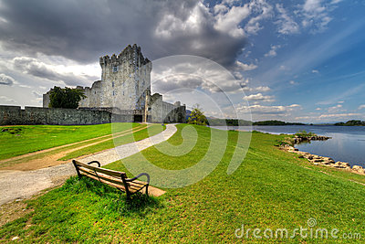 Empty bench at Ross castle