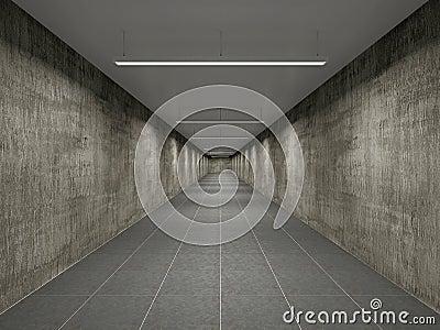 Empty big corridor