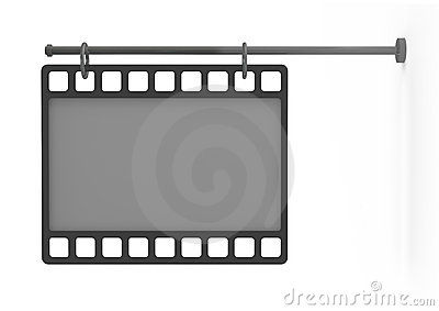 Empty billboard as a film, front view