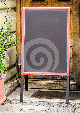 Empty black board