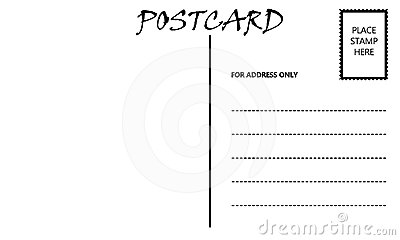 empty blank postcard template royalty free stock image image