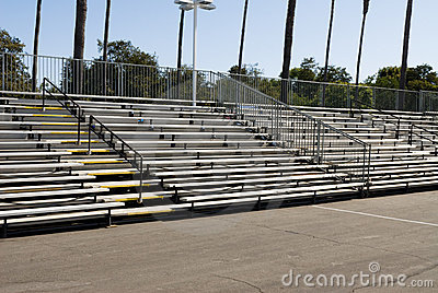 Empty bleachers during daytime