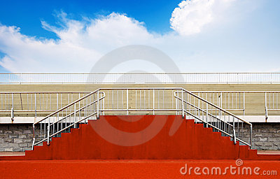 Empty bleachers for an event
