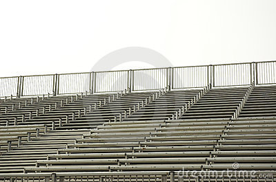 Empty bleachers for a sporting event