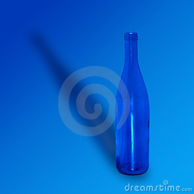 Empty Blue Bottle