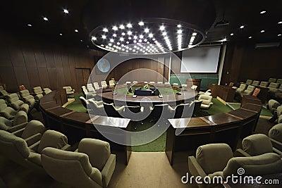 Empty board hall.