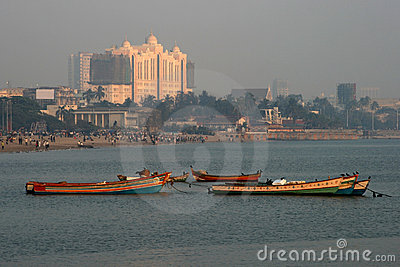 Empty Boats on Chowpatty