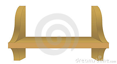 An Empty Book Shelf Royalty Free Stock Photography Image