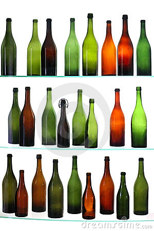 Free Empty Bottles Royalty Free Stock Photos - 8411748