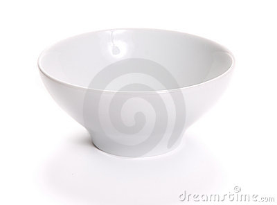 Empty bowl over white