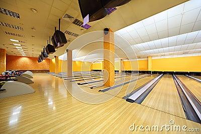 Empty bowling club