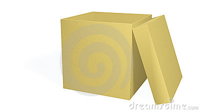 Empty boxes with an open cover