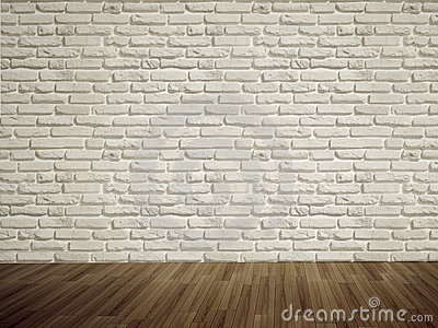 Empty bricks wall Stock Photo