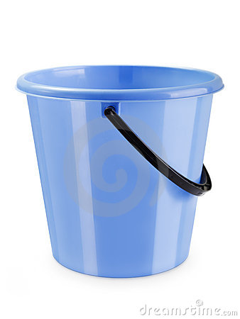 Empty bucket isolated