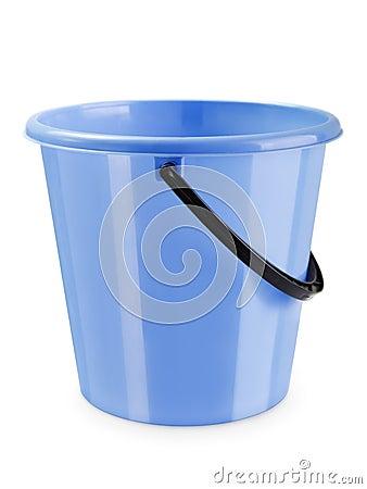 Empty bucket isolated