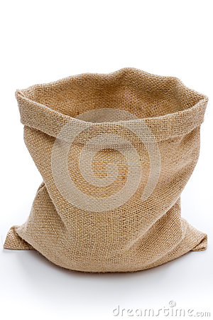 Free Empty Burlap Sack Royalty Free Stock Photo - 26724195