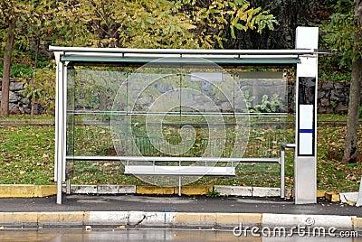 Empty Bus Stop