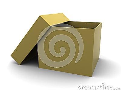 Empty carboard box