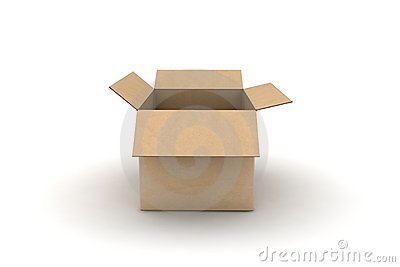 Empty cardboard