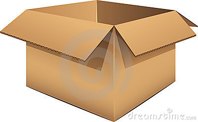 Empty Cardboard Box Stock Photo - Image: 15720550