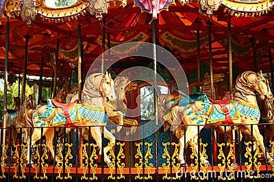 Empty Carousel Ride for Children