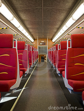 Empty carriage on train
