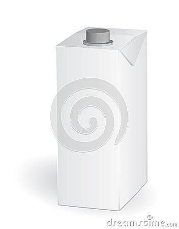 Empty carton one liter