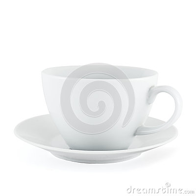 Free Empty Ceramic Tea Cup Over White Plate Stock Images - 30775224