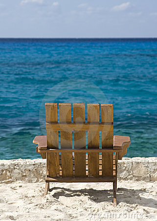 Empty Chair on the Beach