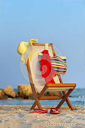 Free Empty Chaise Lounge Stock Photo - 27678590