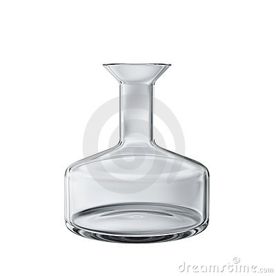 Empty chemical flask isolated 3d model
